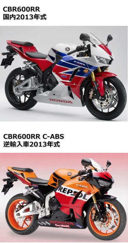 Cbr600rrと逆車の違いを比較