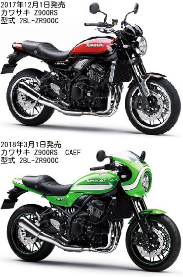 Z900RSとZ900RS CAFEの違いを比較